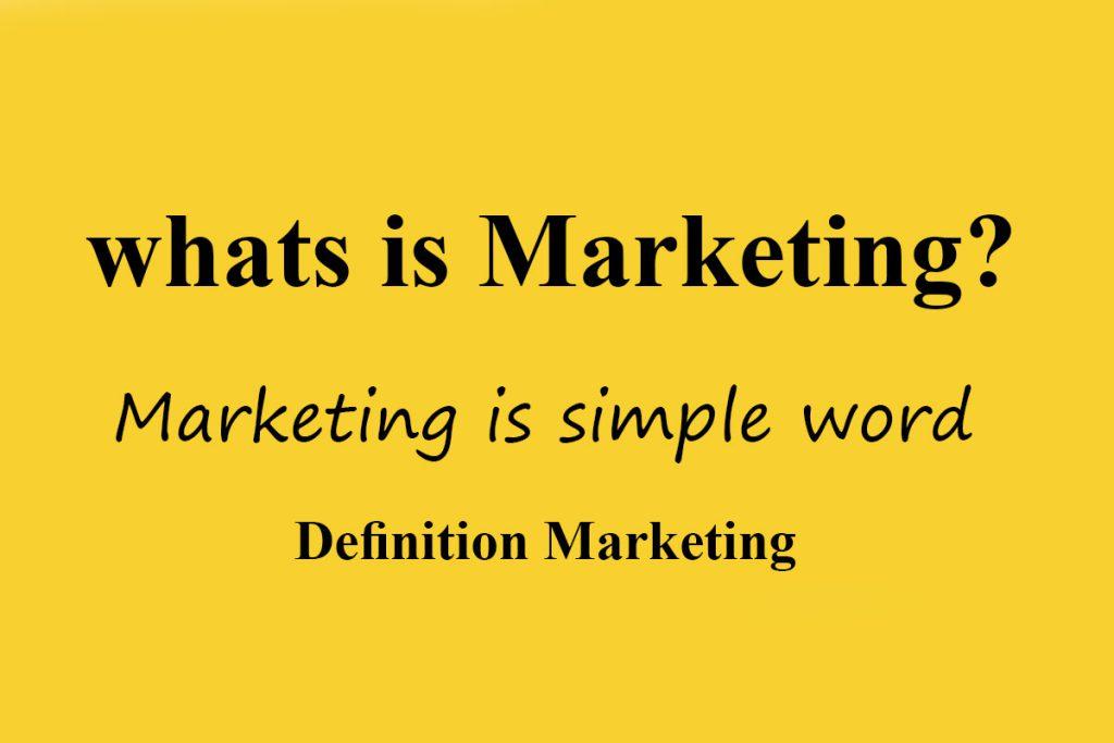 تعریف بازاریابی